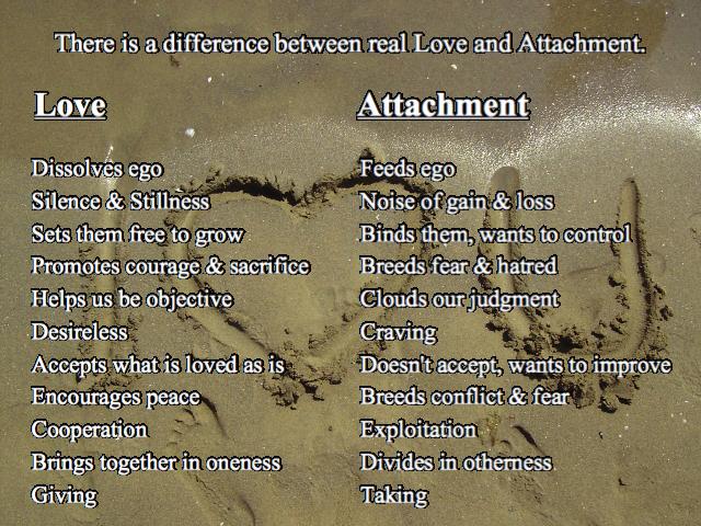 Love Versus Attachment Quote Spirituality Quote Unconditional Love Adorable Love Spiritual Quotes