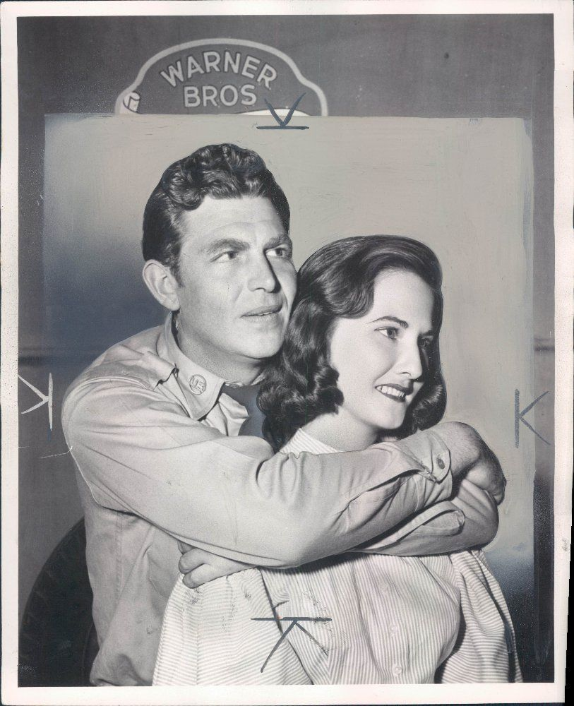 No Quarter Tvshow Time: Andy Griffith And His First Wife Barbara. Taken On The Set
