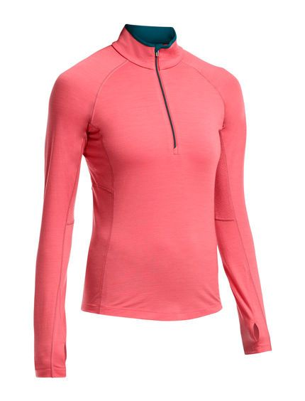 BodyfitZONE Zone Long Sleeve Half Zip | For highly active, high-output days on the skis, trail, rock, or bike, the Women's Zone Long Sleeve Half Zip provides all the benefits of merino wool with strategic ventilation. The Zone features our BodyfitZONE™ construction, which combines lightweight 200gm stretch merino wool with strategically placed merino mesh panels to help regulate temperature during stop-and-go days. A deep half zip aids in dumping heat when you're moving fast, and the…