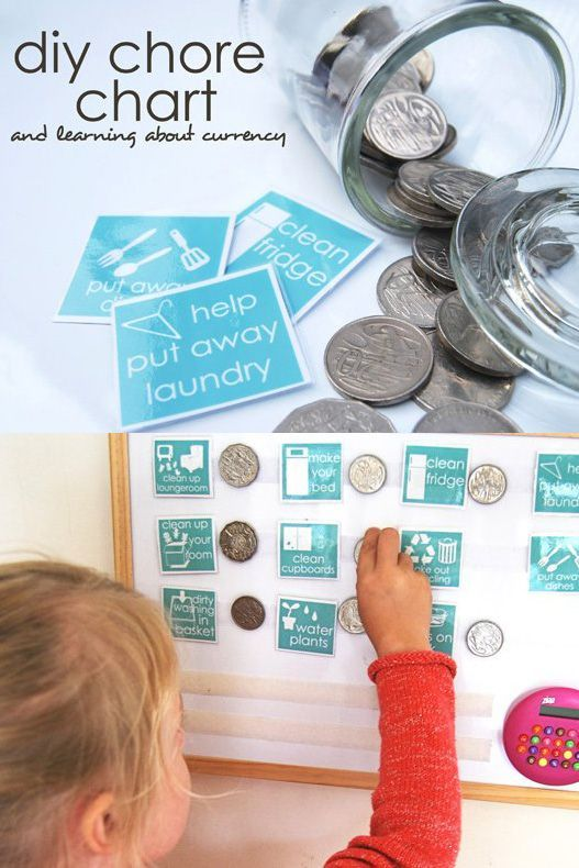 A chore chart system that teaches children to recognise and add currency. Great for children in early elementary grades. Includes a handy printable set of chore cards.