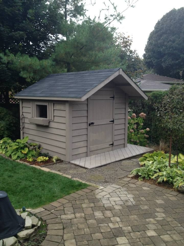 a perfectly placed 8x8 garden shed with 2 foot overhang - Garden Sheds 8x8