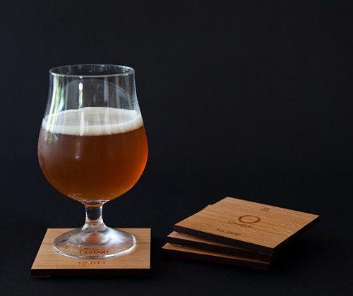 Cherry wood O C H N Coasters (Ochem) | B+ Shop