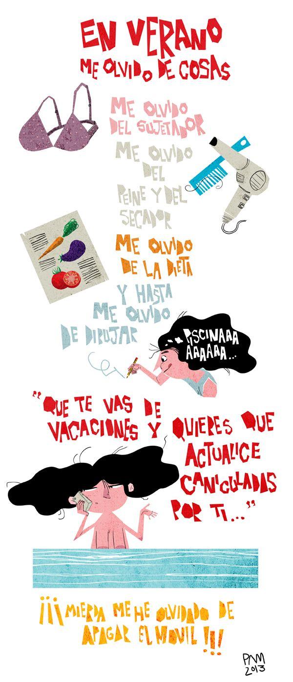 """Esta semana colaboro como comodín usurpador en """"Caniculadas"""" la webcomic mas molona del verano! ;) Muchas gracias chicas! http://caniculadas.blogspot.com.es/"""