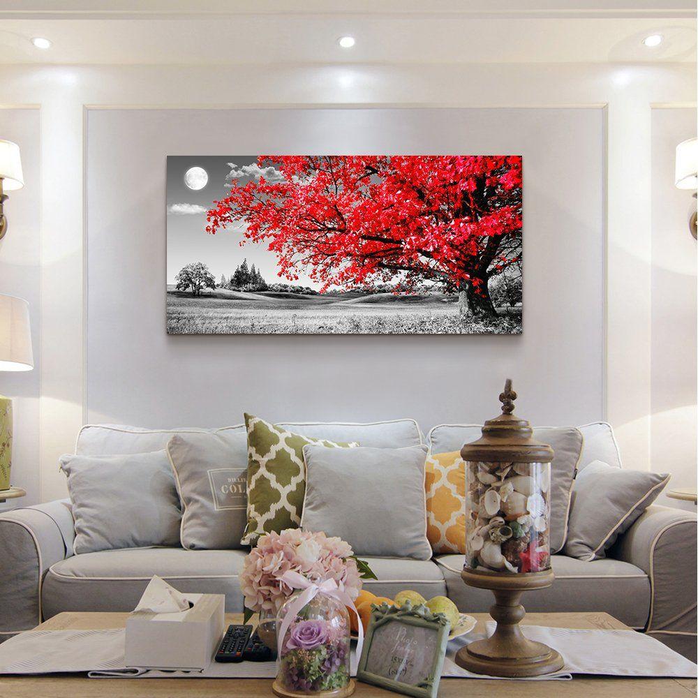 Amazon Com Wall Art For Living Room Simple Life Abstract Painting Canvas Print Wall Art Decor 20 X 40 Single Living Room Art Interior Wall Decor Home Decor