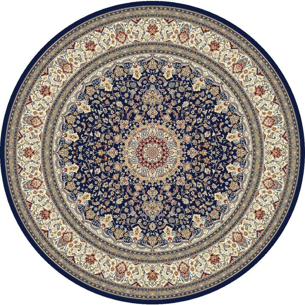 Home Decorators Collection Nicholson Blue Ivory 5 Ft X 5 Ft