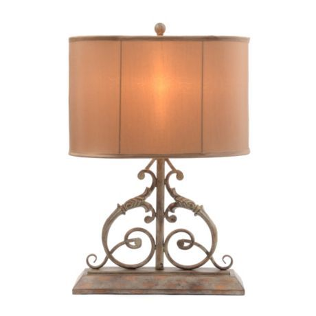 Tudor Scroll Table Lamp Table Lamp Lamp Unique Table Lamps