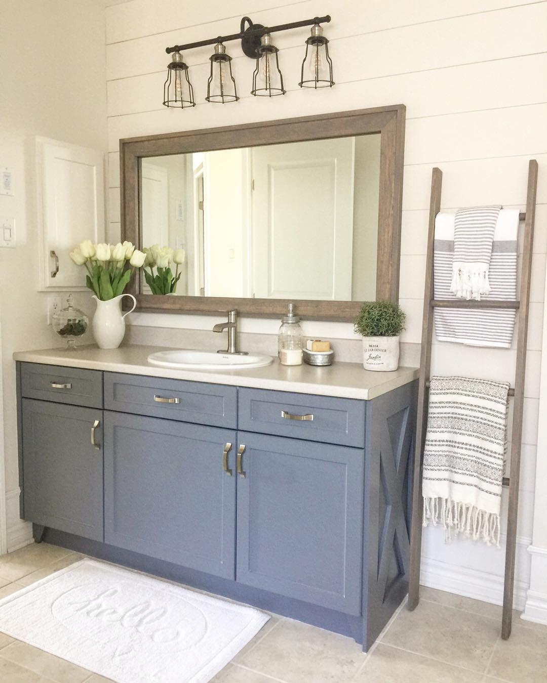 Shawna On Instagram Good Morning Friends I M Sharing One Of My Favourite Budget Transformations I Bathroom Refresh Farmhouse Bathroom Bathroom Mirror Design