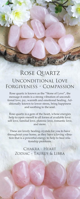 Photo of Rose Quartz Crystal – Tumbled Stone – Polished Stone – Gemstone / For Unconditional Love • Forgiveness • Compassion / Heart Libra Taurus