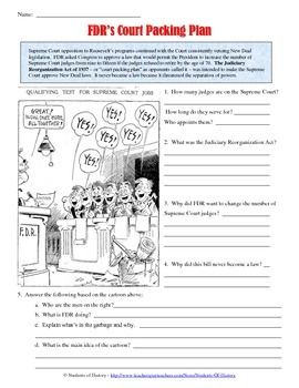 Franklin D. Roosevelt Court Packing Cartoon Analysis | Primary ...