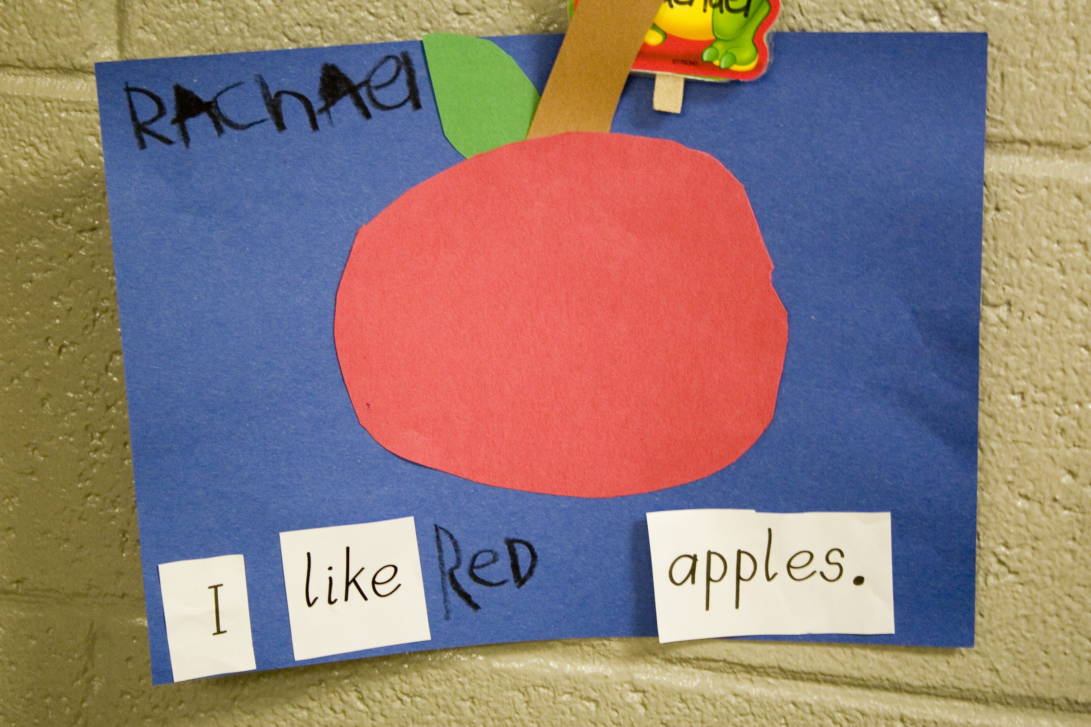 Kindergarten Apple Writing
