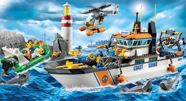 legocom city home products coast guard coast guard patrol