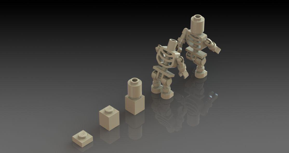 Lego Skeleton Dummy (Ninjago) 3D CAD SolidWorks model, link to free ...