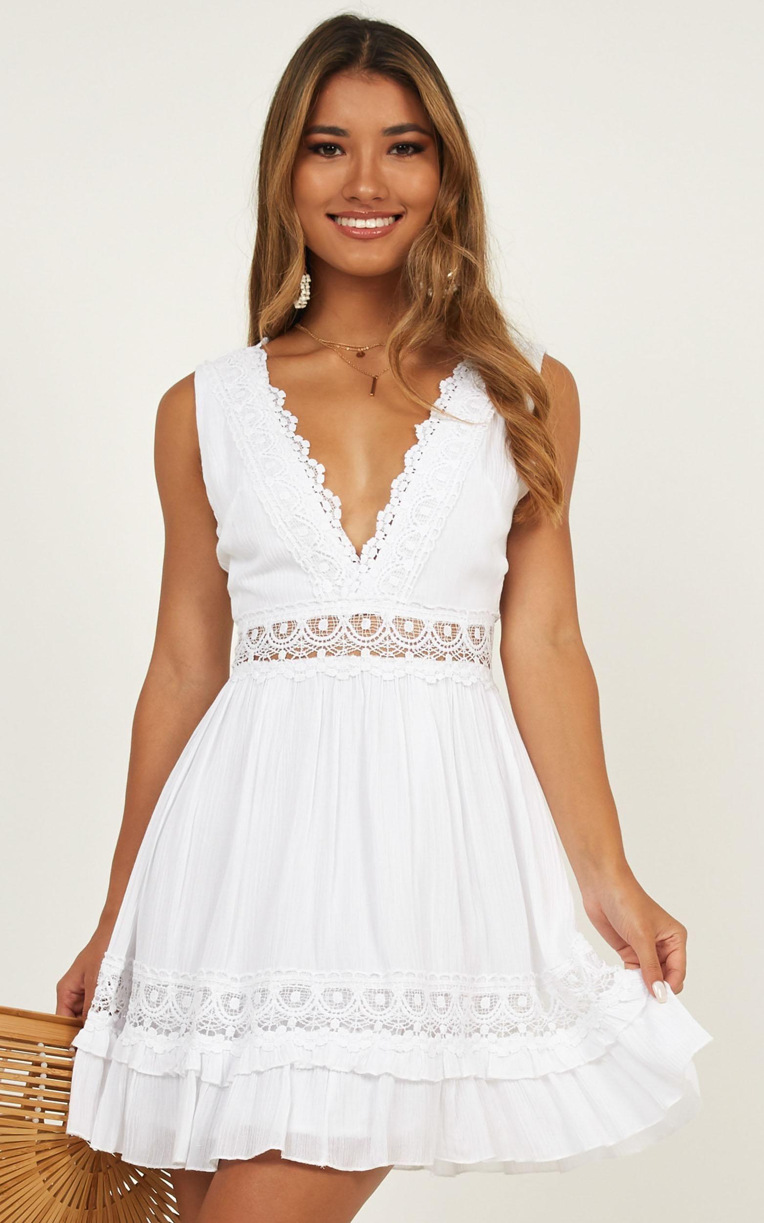Simple As That Dress In White Showpo White Dresses Graduation White Dress African Print Dresses [ 2500 x 1563 Pixel ]