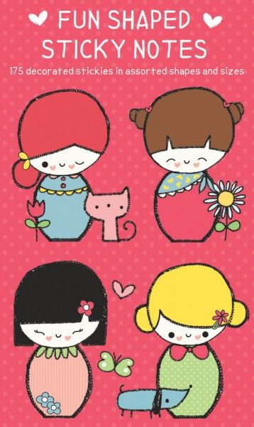 Japanese Dolls Shaped Sticky Notes - Papiermier