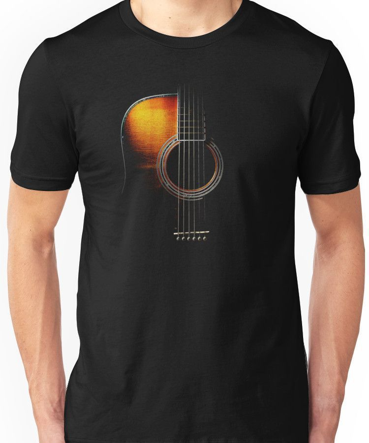 Photo of 'Colour Acoustic Guitar Hi-Lite' T-Shirt by Ra12-ad_1]'Col…