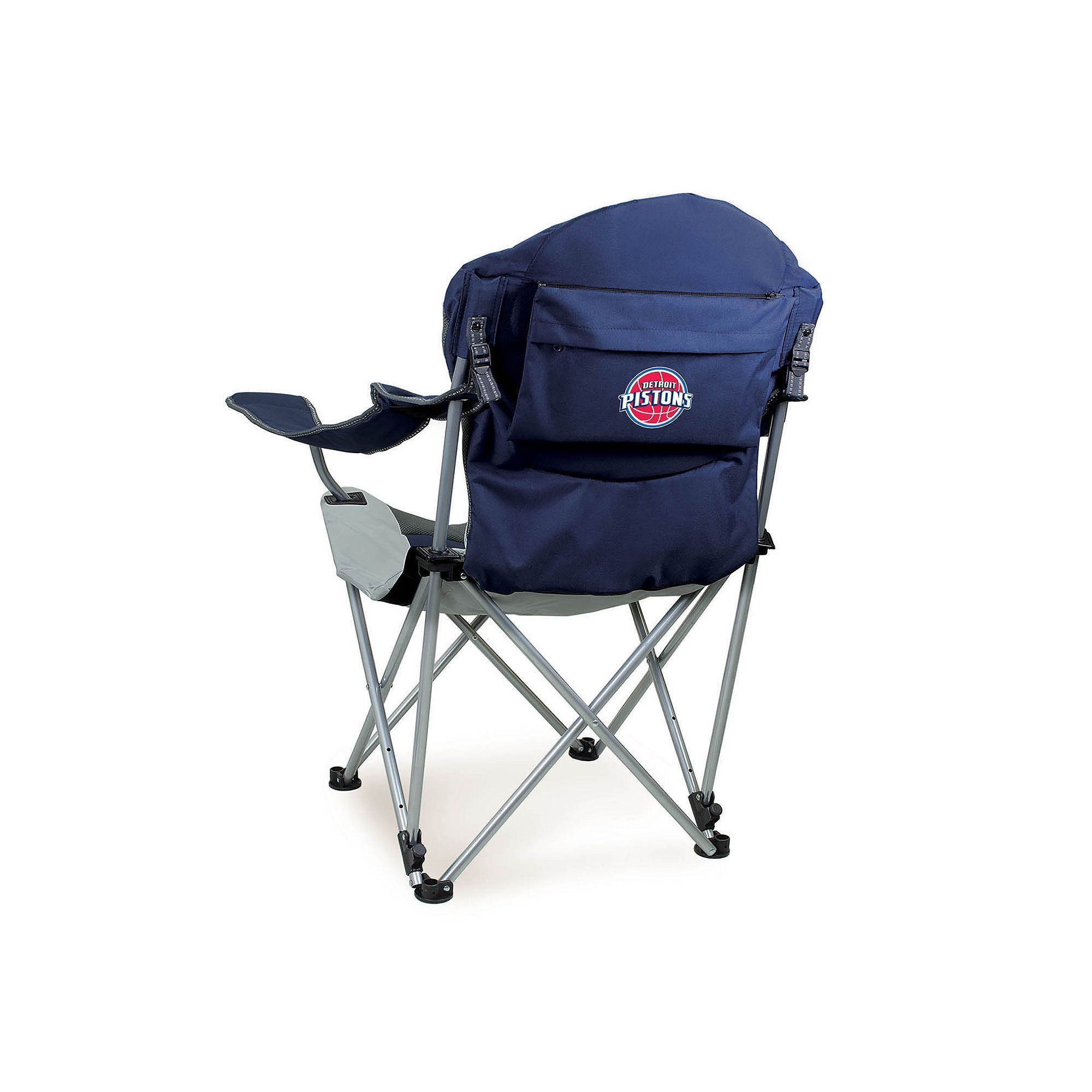 Outdoor Picnic Time Detroit Pistons Reclining Camp Chair Red