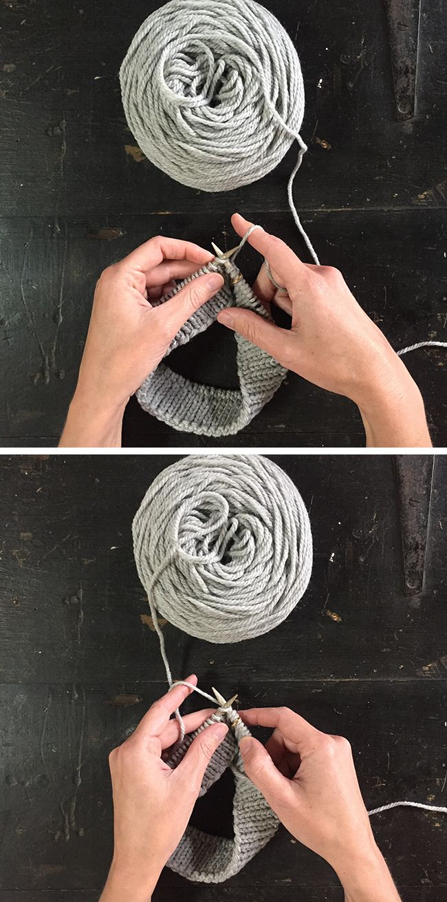 How to knit left-handed