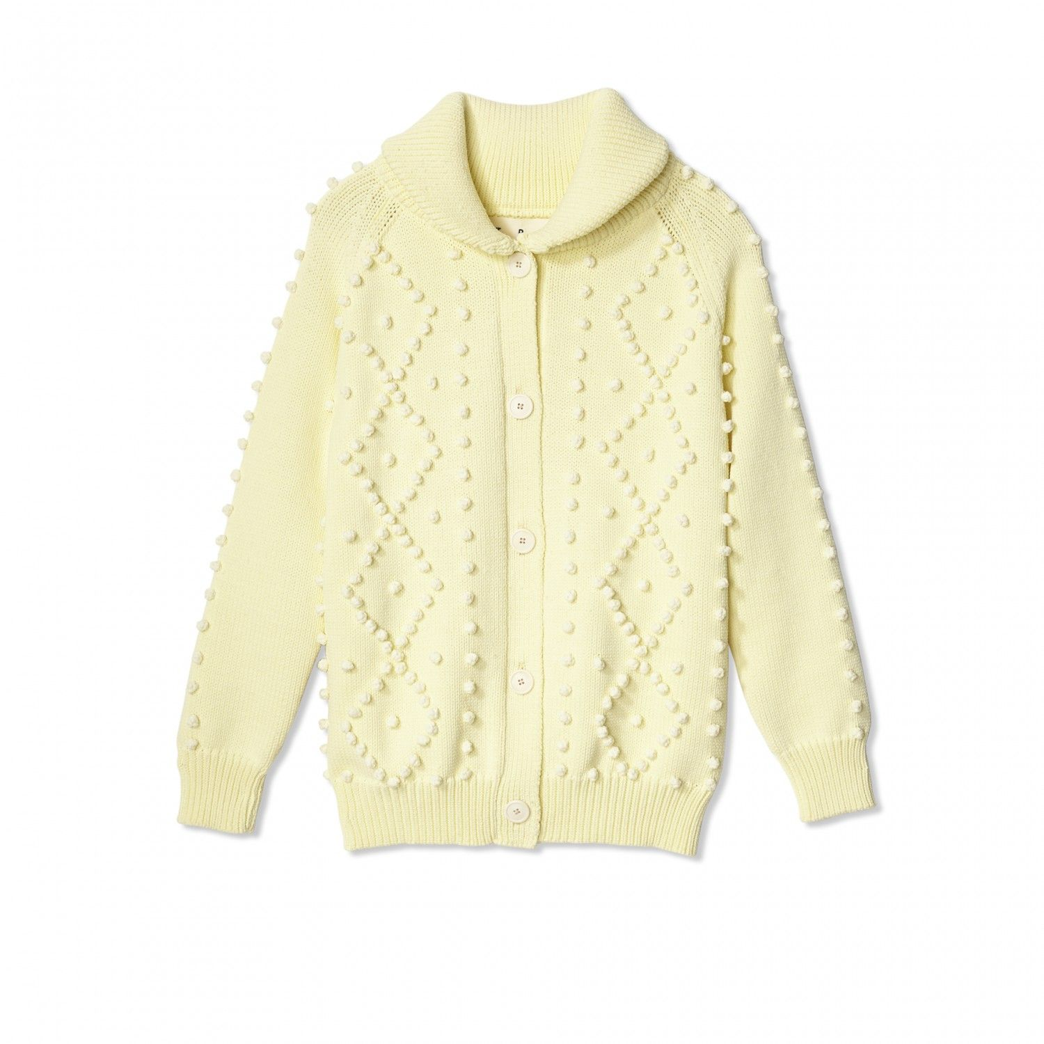 Bobble Cardigan in Pale Yellow by Trademark | A Few Things I'd ...