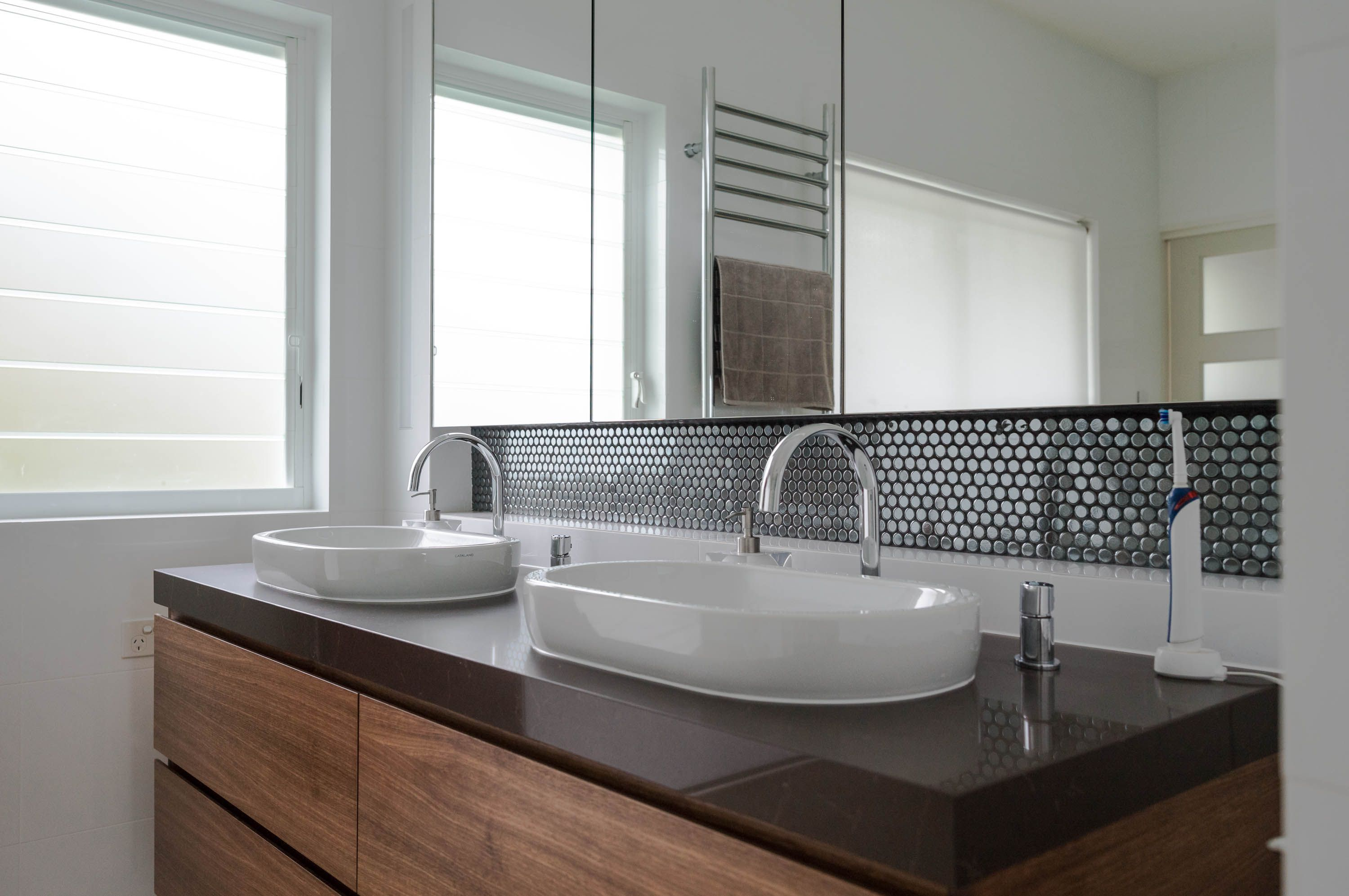 Modern Australian Timber Bathroom  Modern Stylish Double Sink Adorable Contemporary Bathroom Vanity Decorating Design