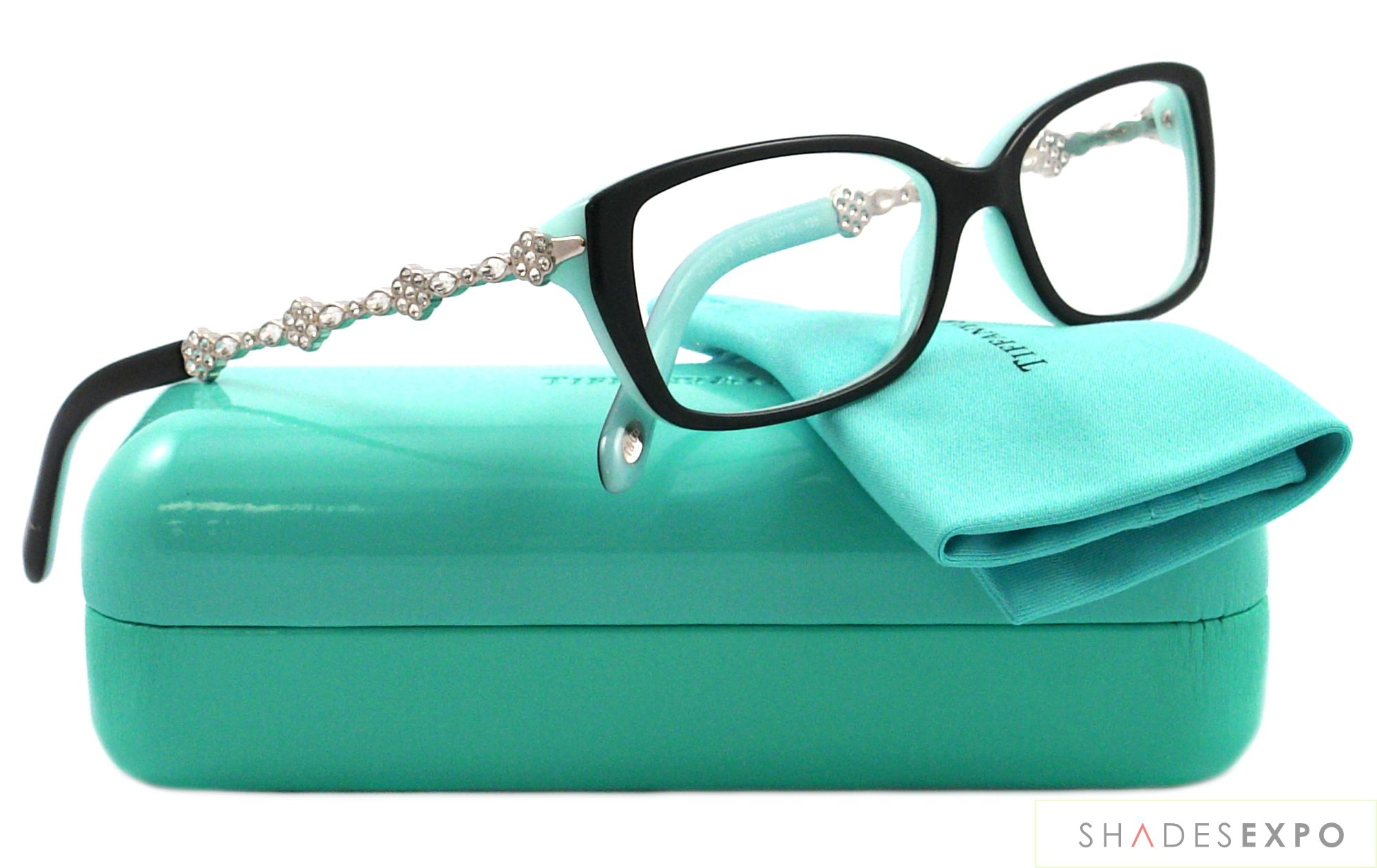 5204cd1f228 NEW Tiffany Eyeglasses TIF 2050B BLUE 8055 52MM AUTH