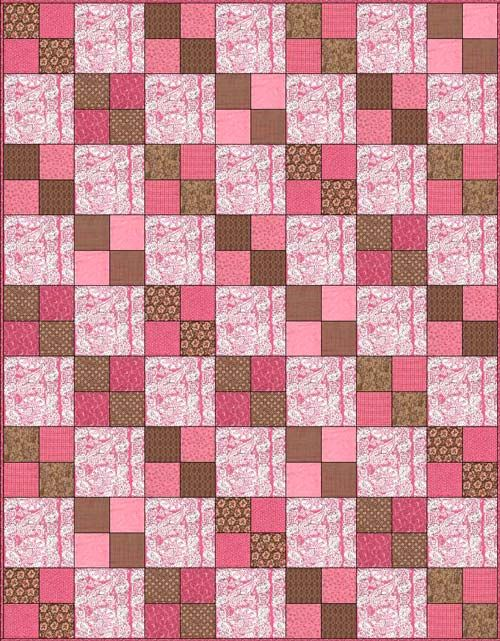 Another easy peasy quilt :), fussy cut fabrics for bigger squares ... : expensive quilts - Adamdwight.com