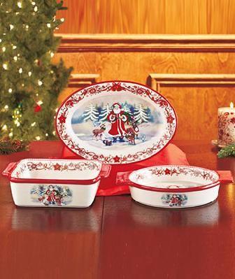 Holiday Bake & Serveware SET Red