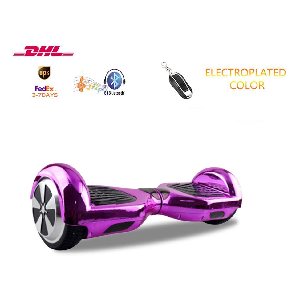 6 5 Inch 2 Roda Scooter Chrome Shell Hoverboard Dengan Tombol Remote Bluetooth Keseimbangan Diri Skuter Gratis Pengiriman 3 Hoverboard 2 Wheel Scooter Scooter