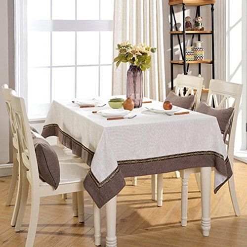 Jht New Chinese Style Retro Cloth Solid Restaurant Table Linen Living Room Coffee Table Solid Tablecloth Cotton