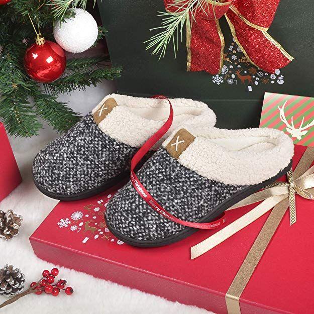 fdac77d3e1f Women s Cozy Memory Foam Slippers Fuzzy Wool-Like Plush Fleece Lined House  Shoes w Indoor