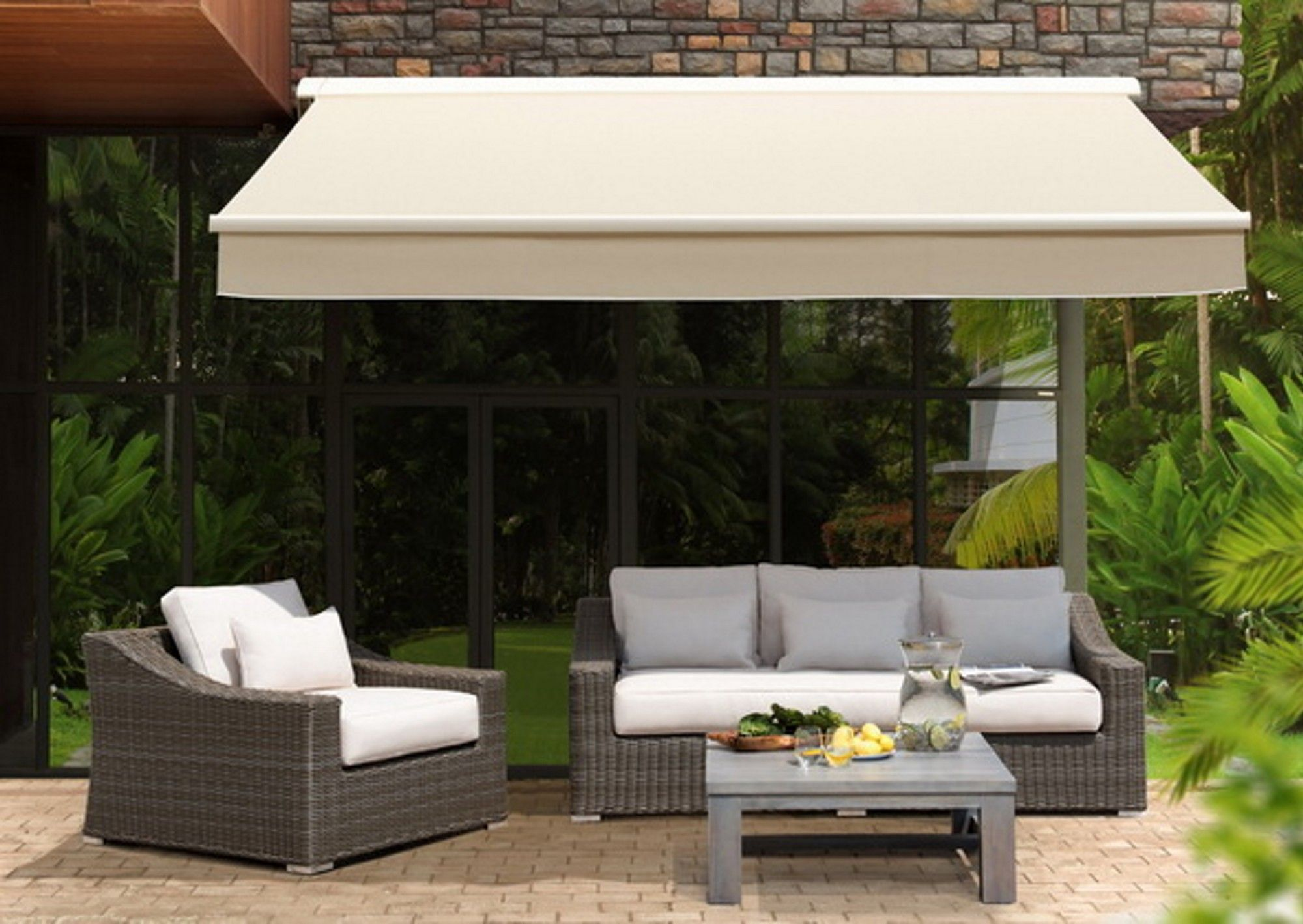 series store ft luxury retractable lseries awning l electric