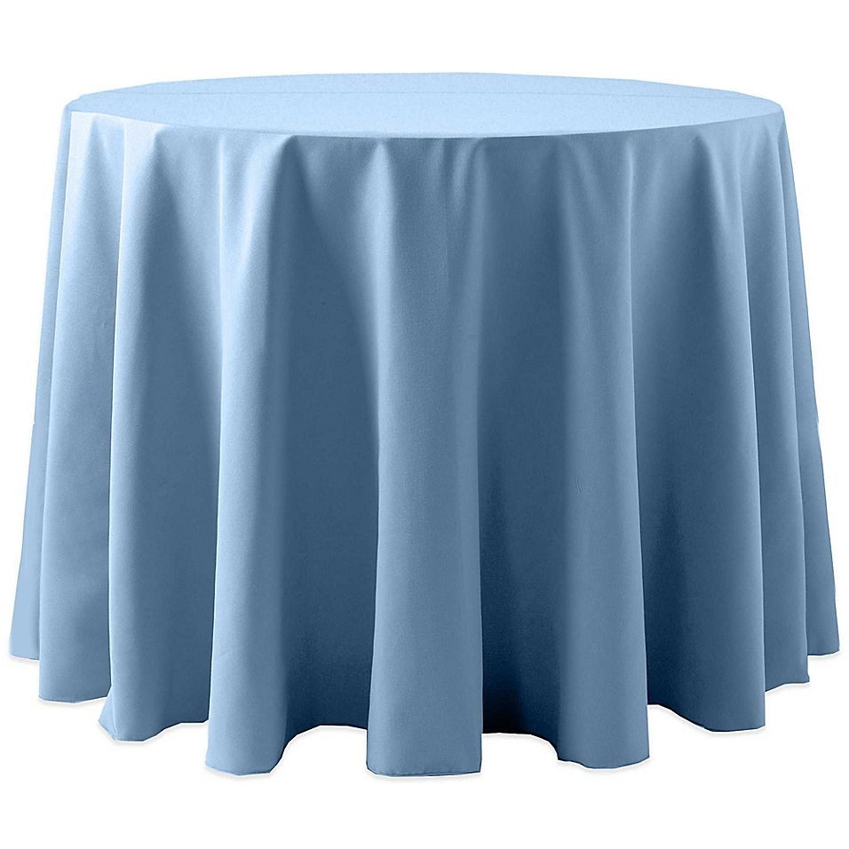 Spun Indoor Outdoor 72 Round Tablecloth In Baby Blue In 2020