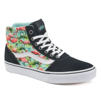 Vans Milton Women's High Top Flamingo Skate Shoes | Black