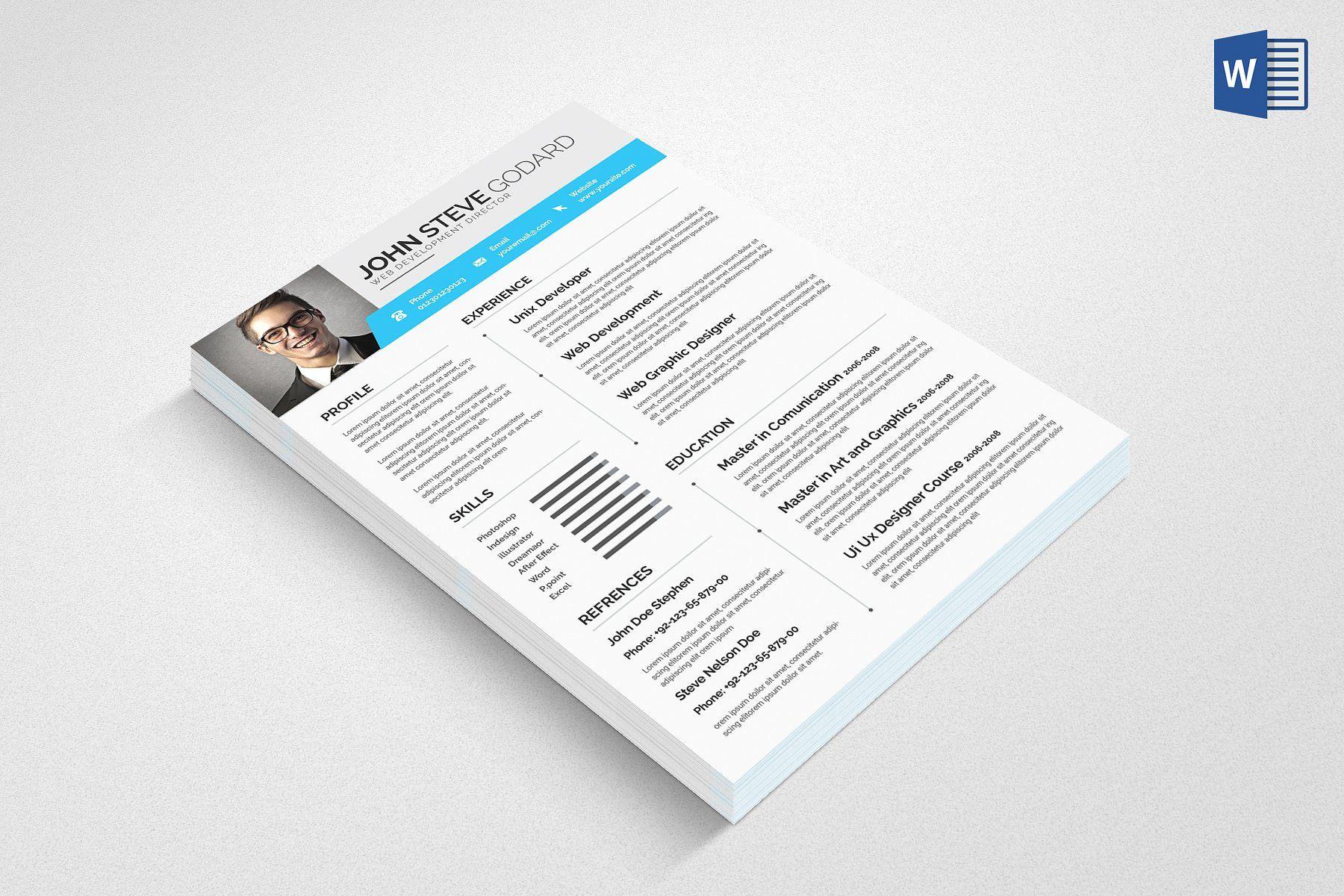 Resume Word Resume words, Resume, Print templates