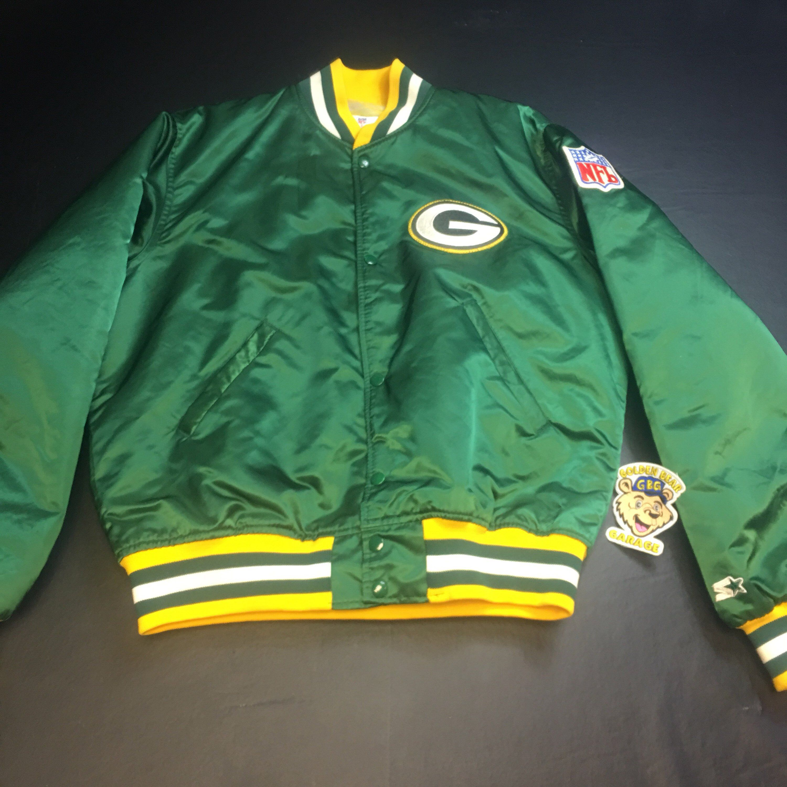 info for 3939d f14b1 Vintage Mens Large Green Bay Packers Green Satin Starter ...