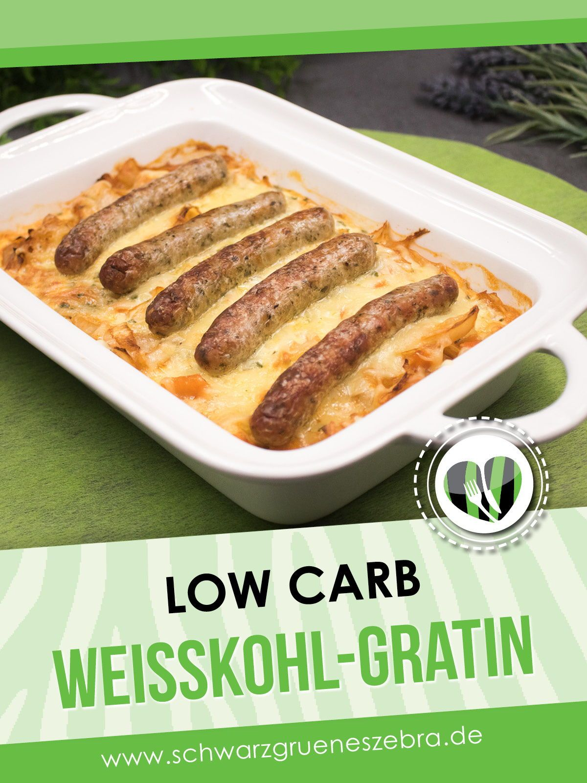 Photo of Low carb main course: Nuremberg white cabbage gratin