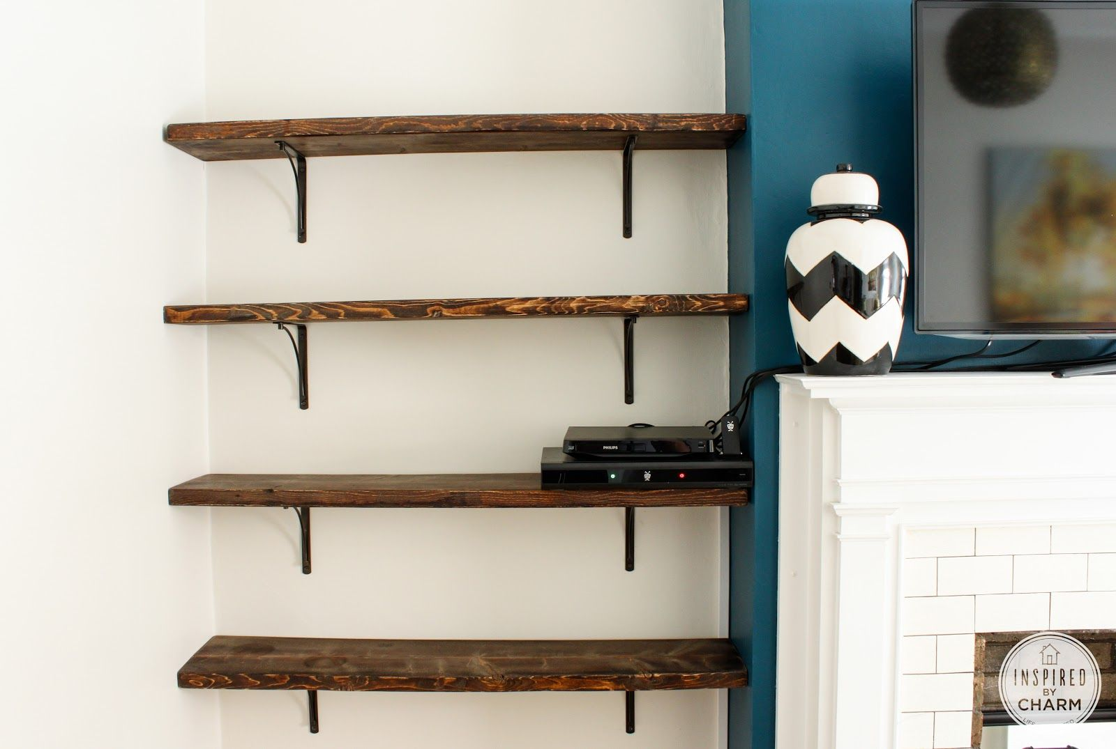Likable Simple Wooden Wall Shelves Design With Exotic Natural Wood Textures  For Books Or Display Space   A Part Of 37 Creative And Unique Bookshelves  Design ...