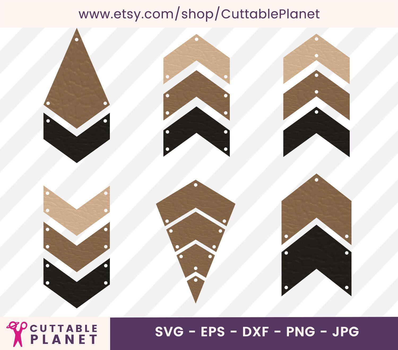 Earrings template chevron svg, dxf, eps, png, jpg