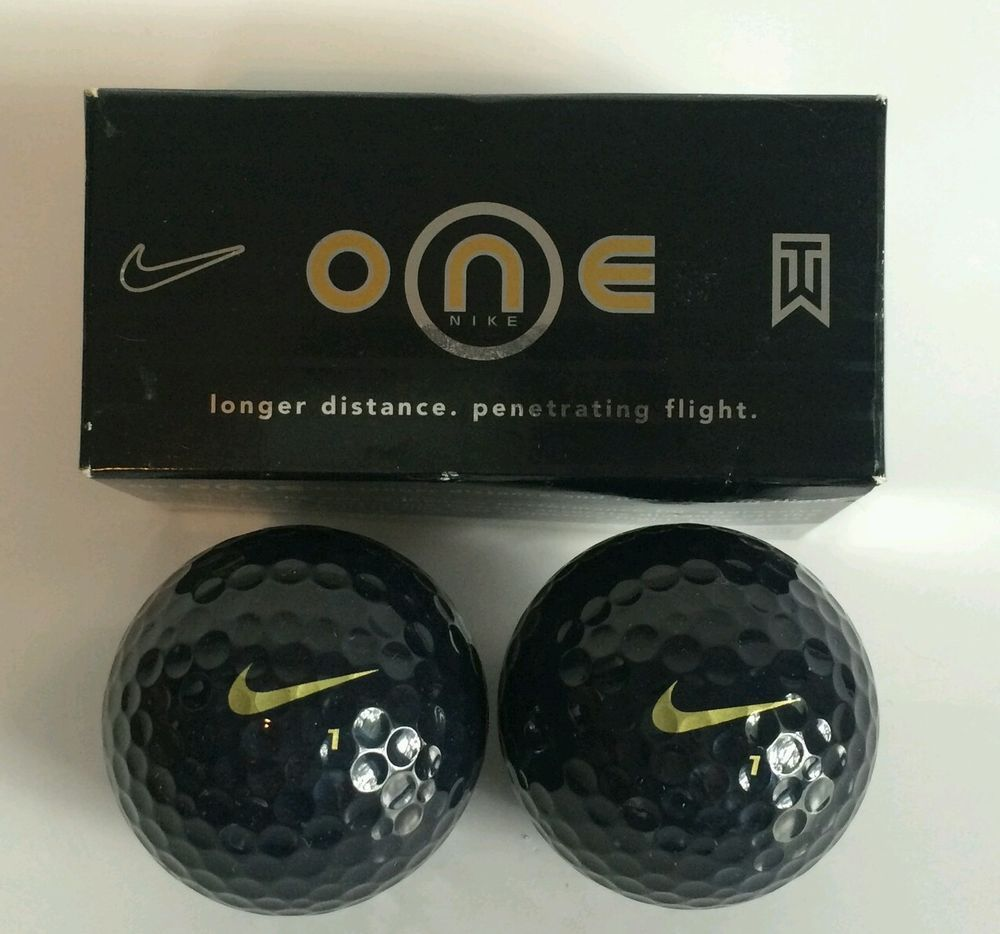 (2) Nike One Black Golf Balls NEW  #Nike