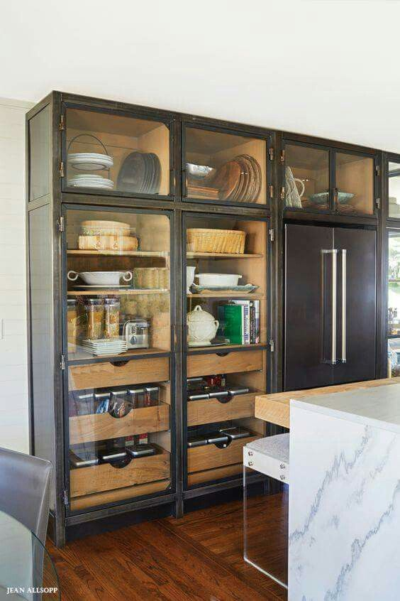 Glass Door Pantry See Everything While Keeping It Dust Free