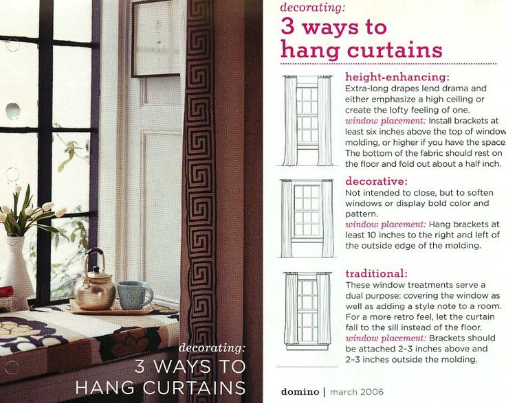 Proper Way To Hang Curtains Ways To Hang Curtains Traditional