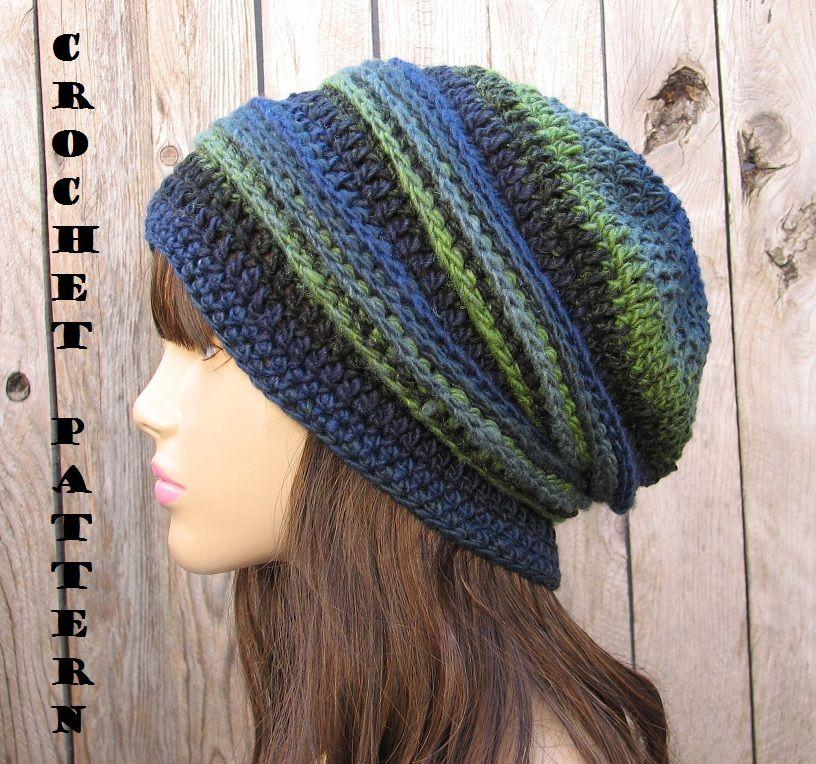 CROCHET PATTERN!!! Crochet Hat Slouchy Hat, Crochet