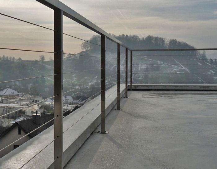 Absturzsicherung Geländer metallbau s metalldesign balkone brüstungen