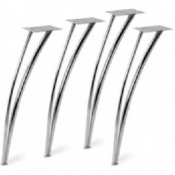 Chrome Curved Style 4 Table Legs Set Dining Furniture Design