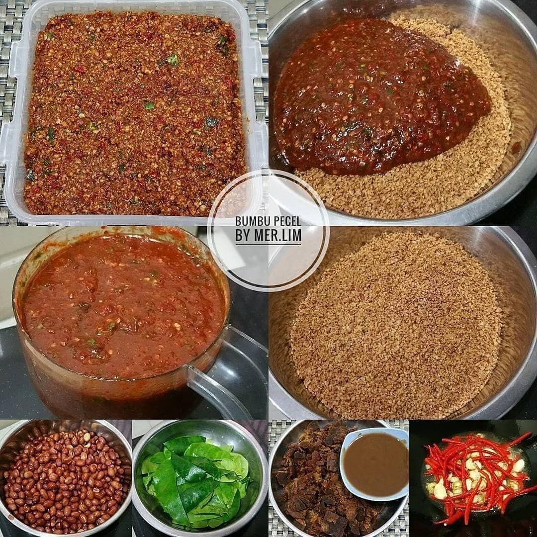 Sentuh Dulu Yaah Bumbu Pecel Praktis Source Nglaisui Cook By Merilimatmaja Resep 500gr Kcng Tanah 100gr Cabe Merah Pecel Food Cooking