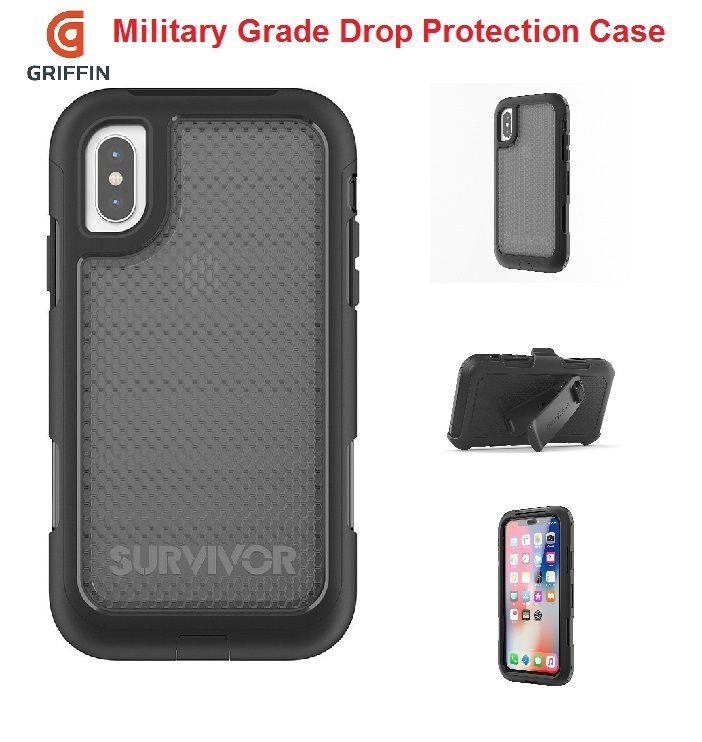 new arrivals 315d1 ac301 IPhone X Plus Griffin Survivor Extreme Rugged Drop Protection Case ...