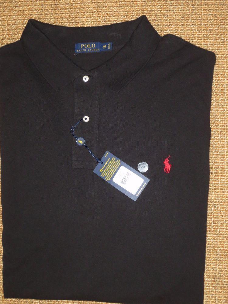 Fit Mesh Classic 4x Ralph Lauren Black Men's Polo 4xb Big Shirt zMqVpUGS