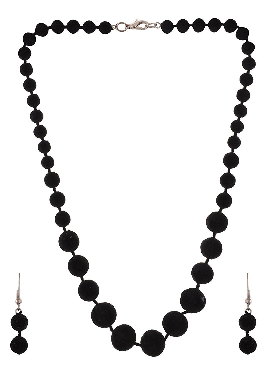 48e4f3db0833f Buy Morya Jewels Black Enamel Chain Necklace Set for Girls (PENDANT ...