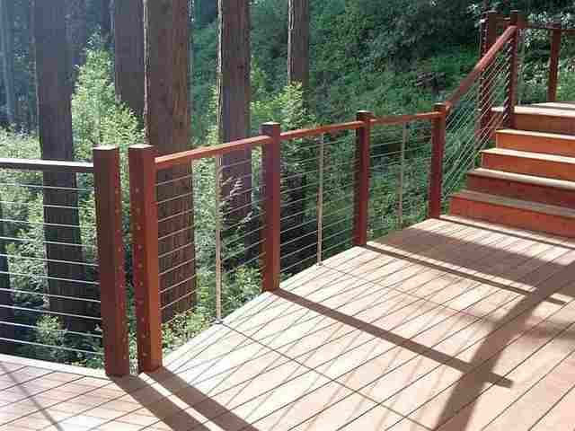 aluminum deck railing systems lowes vinyl photo gallery ultra stainless steel cable decks stairs residential applications rona