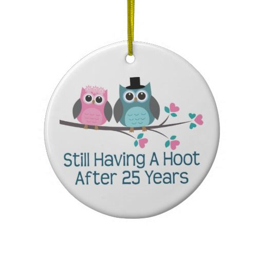 20 Year Wedding Anniversary Gift Ideas: Gift For 25th Wedding Anniversary Hoot Ornament