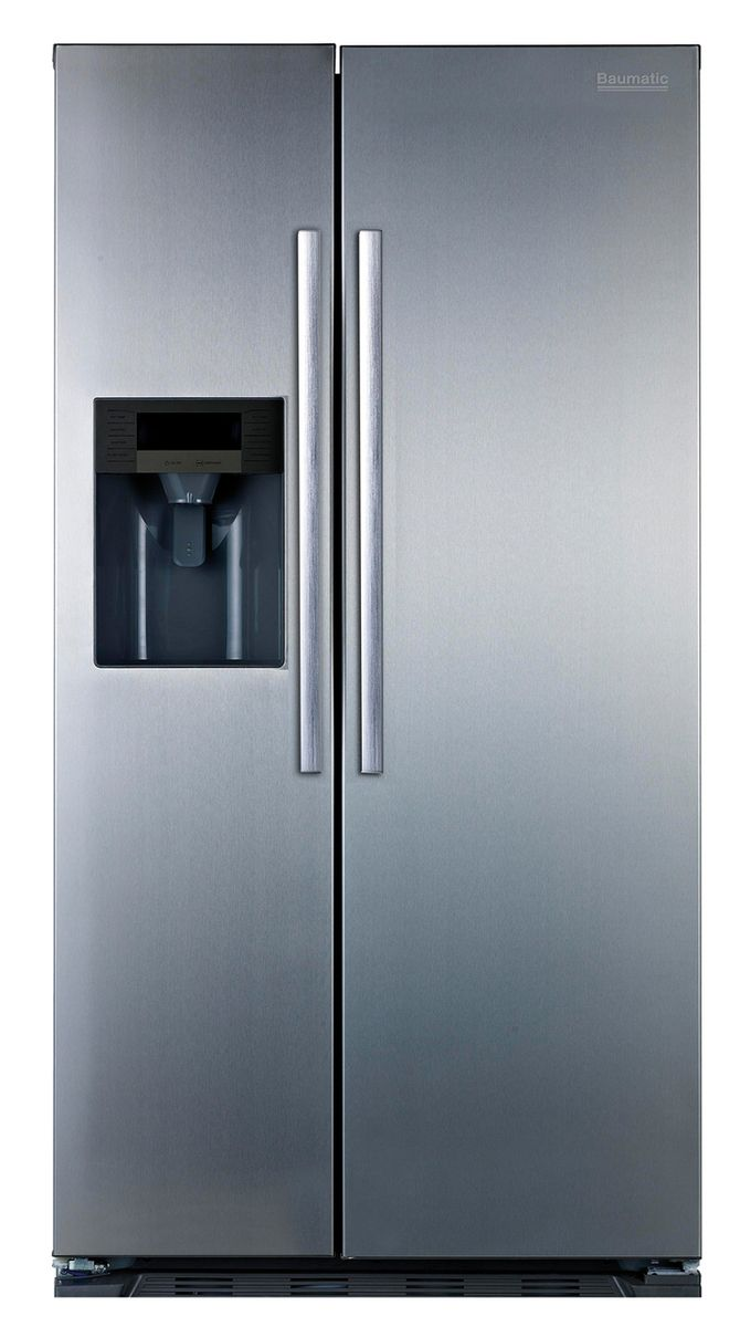 Baumatic B25SE American Fridge Freezer With Water Dispenser with ...